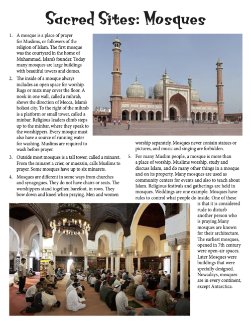 Sacred Sites: Mosques