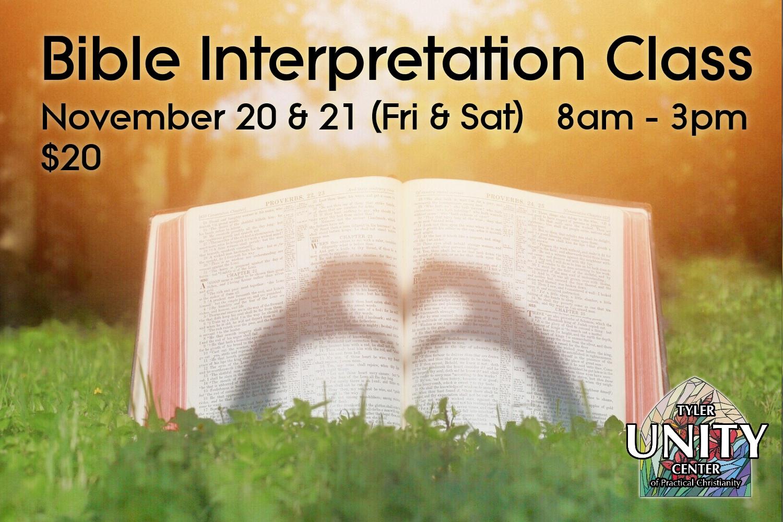 Bible Interpretation Class